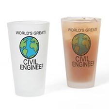 Worlds Greatest Civil Engineer Drinking Glass