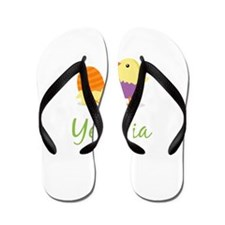 Easter Chick Yesenia Flip Flops