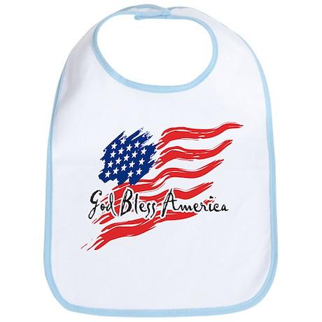 "American Flag inscribed ""God Bless America"" Bib"