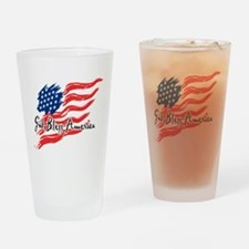 "American Flag inscribed ""God Bless America"" Drinki"