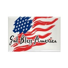 "American Flag inscribed ""God Bless America"" Rectan"