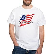 "American Flag inscribed ""God Bless America"" Shirt"