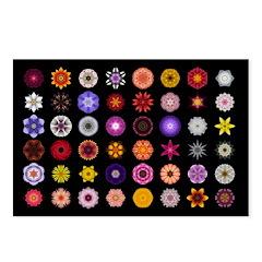 48 Flower Mandalas Postcards (Package of 8)