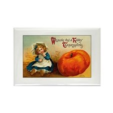 Country Thanksgiving Rectangle Magnet