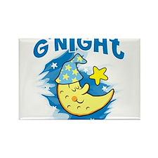 "Sleeping Crescent Moon inscribed ""G'Night"" Rectang"