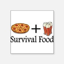 Survival Food. Pizza plus Beer Sticker