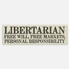 Libertarian Freedom Bumper Bumper Bumper Sticker