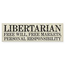 Libertarian Freedom Bumper Bumper Sticker