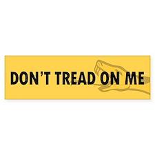 Dont Tread On Me Bumper Bumper Sticker