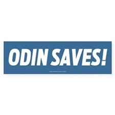 Odin Saves! Bumper Bumper Sticker
