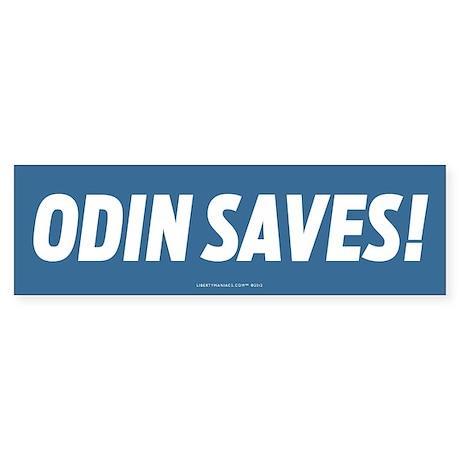Odin Saves! Bumper Sticker
