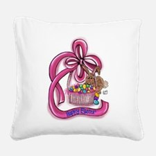 Happy Easter Square Canvas Pillow