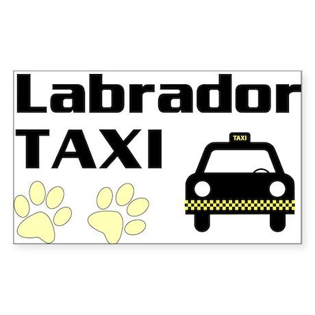Labrador Taxi Sticker
