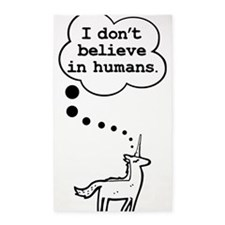 I dont believe in humans 3'x5' Area Rug