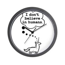 I dont believe in humans Wall Clock