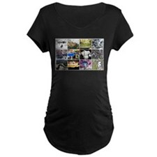 Funky Fungi Collage Maternity T-Shirt