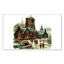 Christmas Night - Victorian Church Scene Decal
