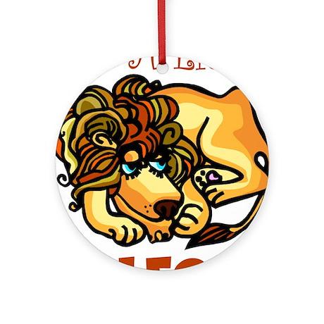 I'm A Little Leo Ornament (Round)