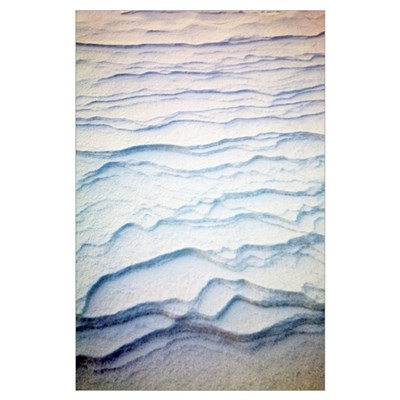 Detail Of Ripple Pattern In The Snow At Sunrise; C Poster