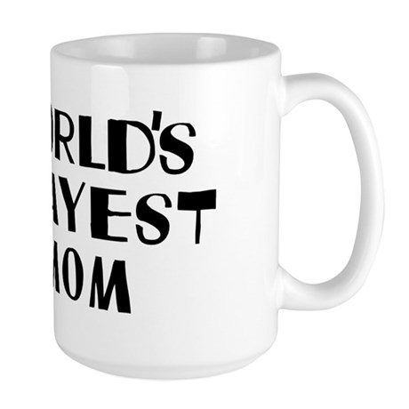 World's Okayest Mom Large Mug