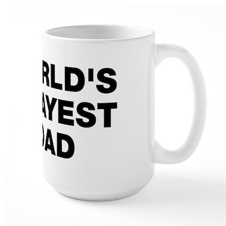 World's Okayest Dad Large Mug