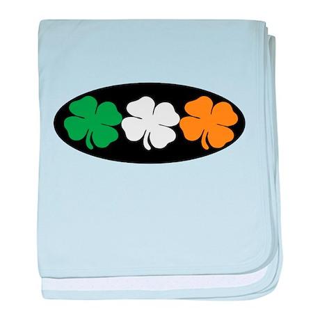 Irish Flag Clovers baby blanket