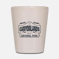 Canyonlands Blue Sign Shot Glass