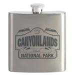 Canyonlands Blue Sign Flask