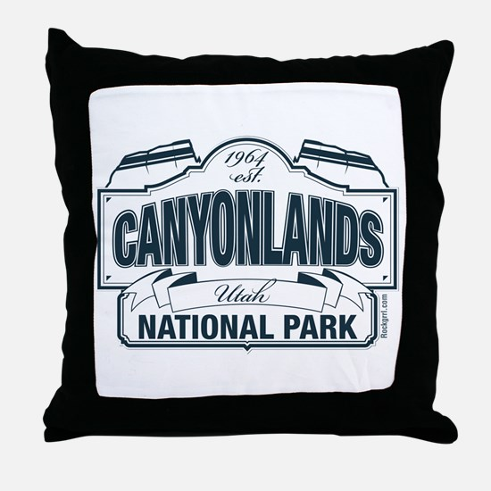 Canyonlands Blue Sign Throw Pillow