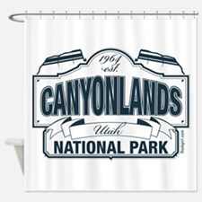 Canyonlands Blue Sign Shower Curtain