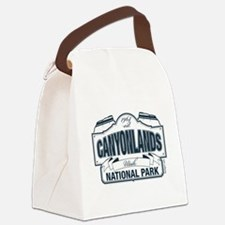 Canyonlands Blue Sign Canvas Lunch Bag