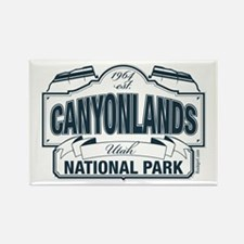 Canyonlands Blue Sign Rectangle Magnet