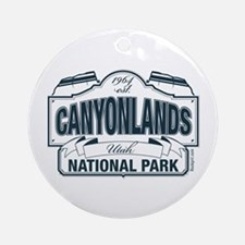 Canyonlands Blue Sign Ornament (Round)
