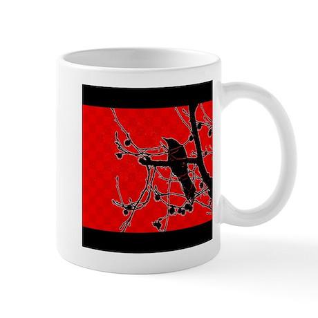 Checkerboard Crow Mug