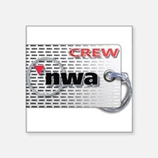 Northwest Airlines Crew Tag Sticker