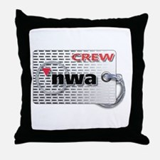Northwest Airlines Crew Tag Throw Pillow