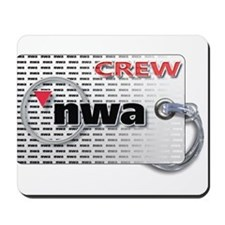 Northwest Airlines Crew Tag Mousepad