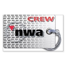 Northwest Airlines Crew Tag Decal