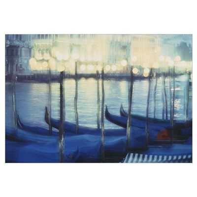 Fv2131, David Nunuk; Gondolas In Venice, Italy Canvas Art