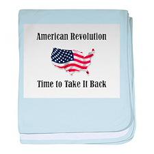 American Revolution baby blanket