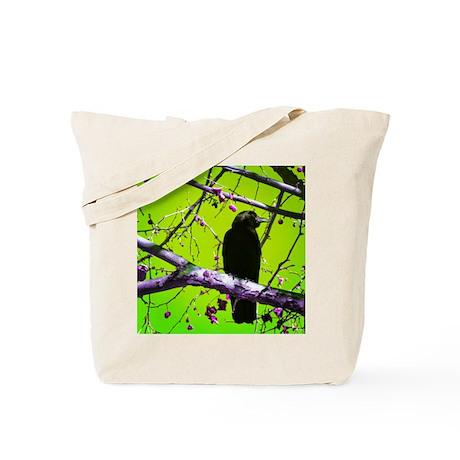 Crow on Absinthe Tote Bag