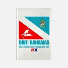 Dive Bahamas Rectangle Magnet