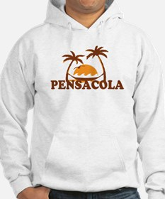 Pensacola Beach - Palm Trees Design. Hoodie Sweatshirt