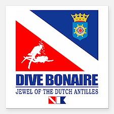 """Dive Bonaire Square Car Magnet 3"""" x 3"""""""