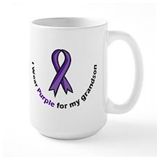 I wear purple for my grandson Mugs