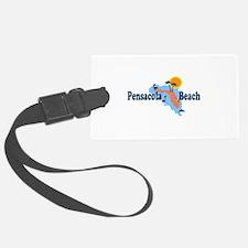 Pensacola Beach - Map Design. Luggage Tag