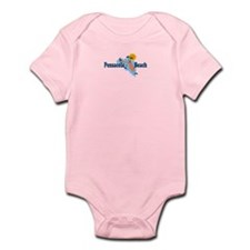 Pensacola Beach - Map Design. Infant Bodysuit