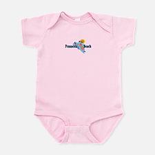 Pensacola Beach - Map Design. Infant Bodysuit