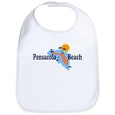 Pensacola Beach - Map Design. Bib