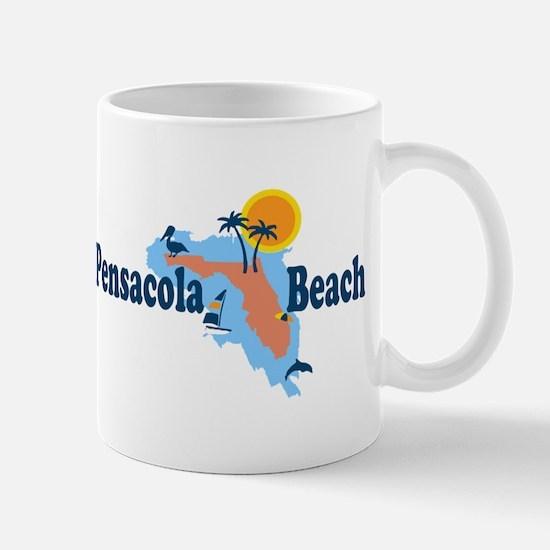 Pensacola Beach - Map Design. Mug